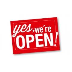 - PRIJSVRAAG 'YES, WE ARE OPEN!'