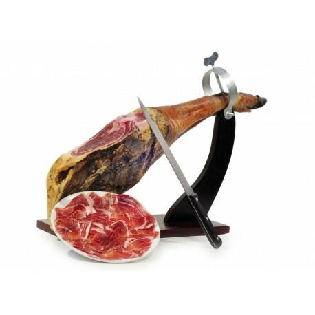 openings aanbieding serrano of iberico ham inclusief hamhouder en ham-mes
